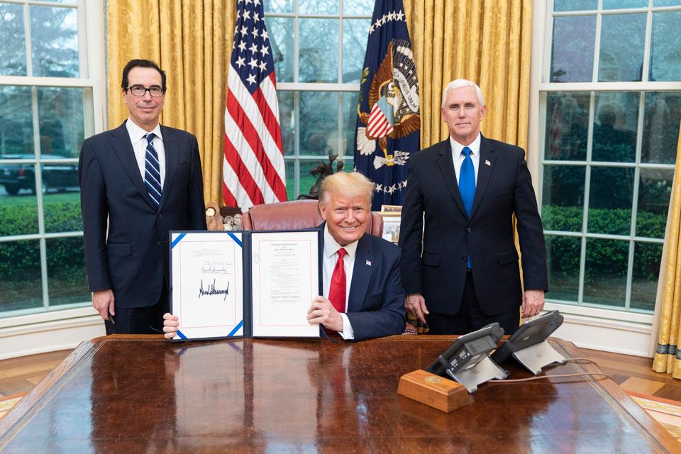 Families First Coronavirus Response Act signing