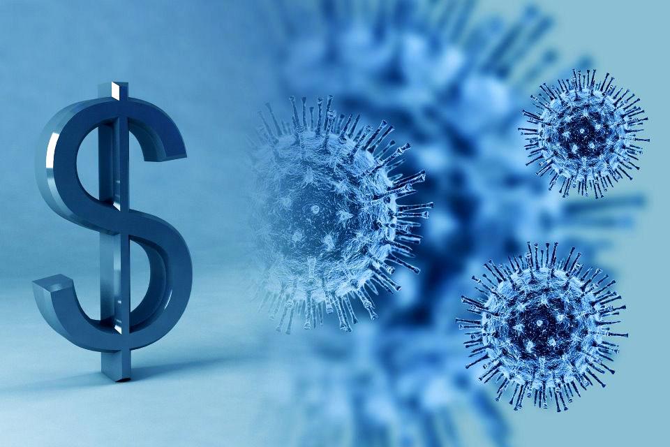 Coronavirus Dollar Symbol