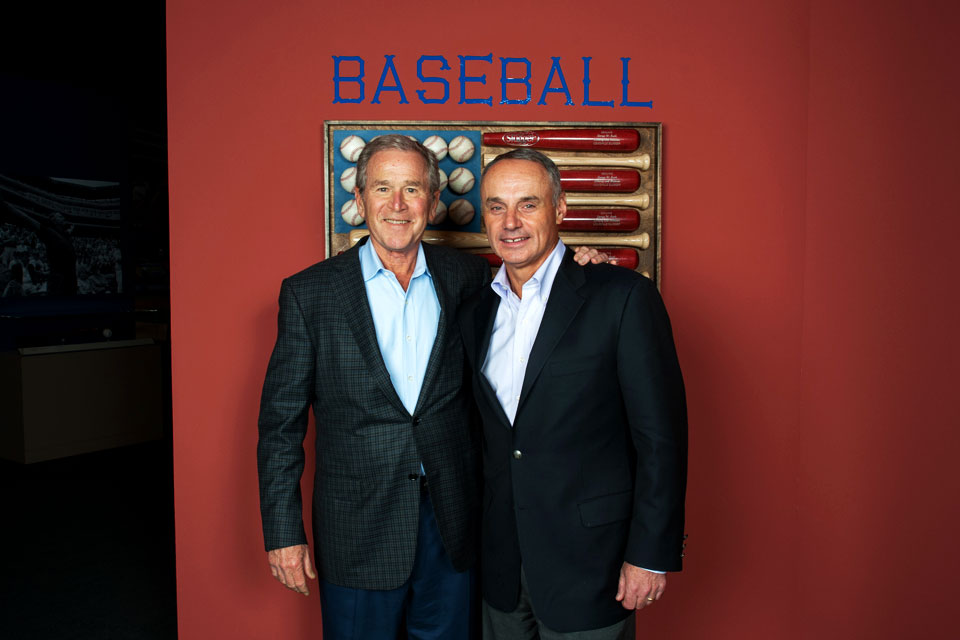 GWB and MLB Commissioner Rob Manfred