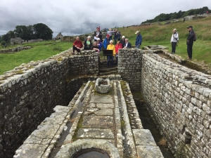 Roman latrines at Housesteads