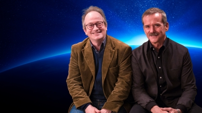 Robin Ince and Chris Hadfield in Space Shambles