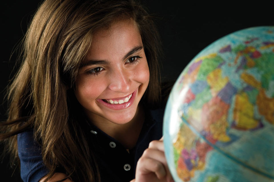 Gabbitas Girl with Globe