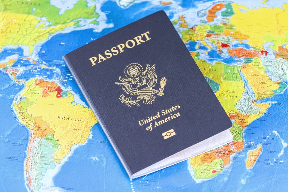 US Passport World Map