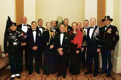 Raymond Colledge with military guests