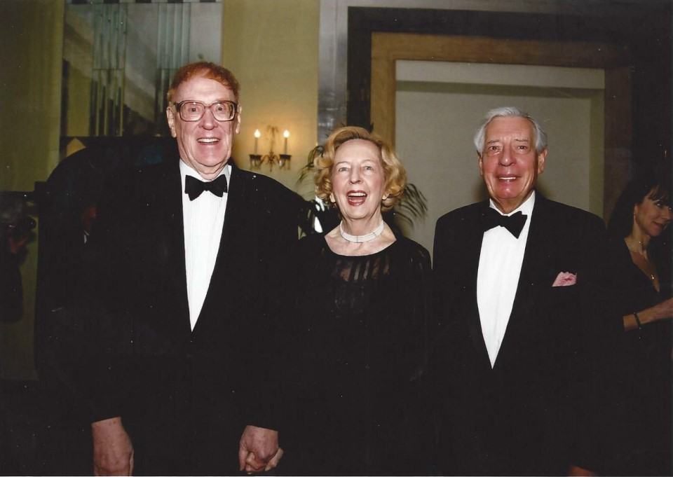 Texas oilman Larry Crooke and his wife Dena Lee with Sir James Duncan