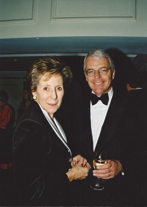 Honored guests Norma and John Major