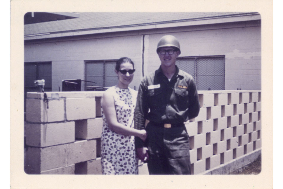 Gary and Mary Ann Maibach during Gary's training as a medic at Fort Sam Houston, Texas during 1966. (© Gary Maibach)