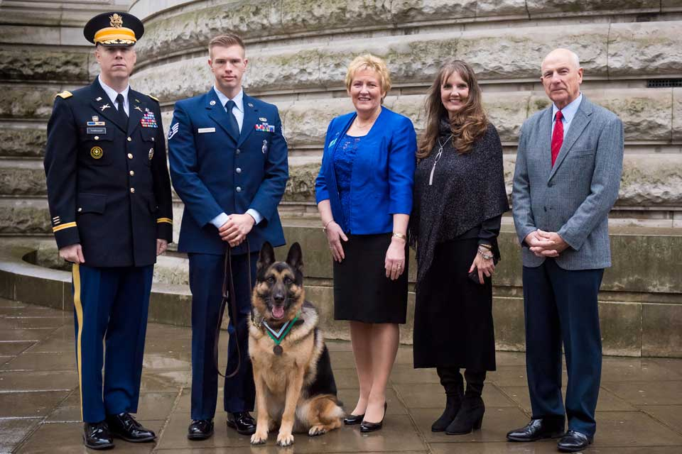 Chips PDSA Dickin Medal ceremony