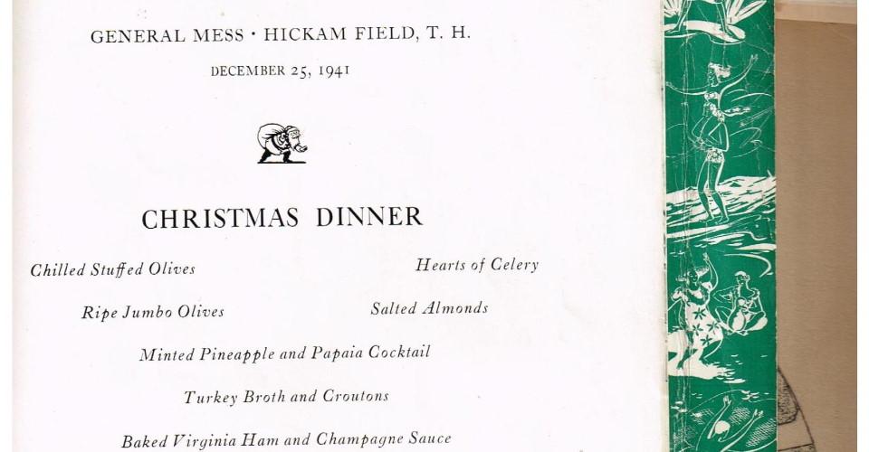 Christmas Dinner Menu at Hickam Field