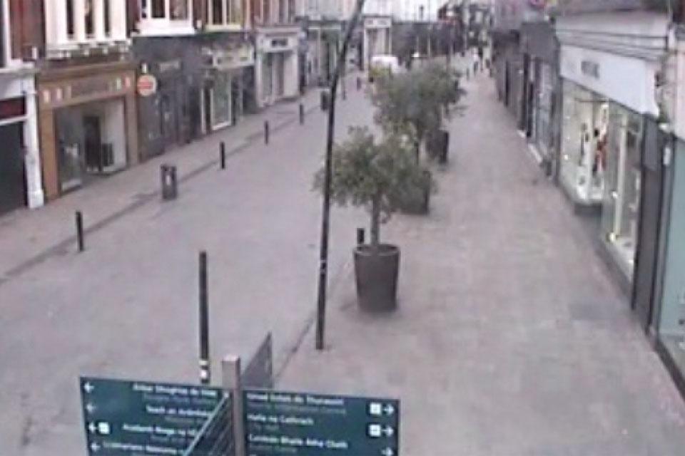 Empty Dublin streets