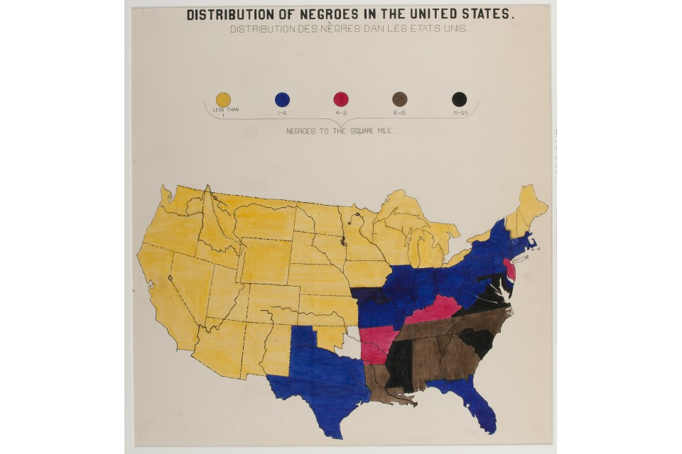 W.E.B. Du Bois Art Work: Distribution of Negroes in the United States
