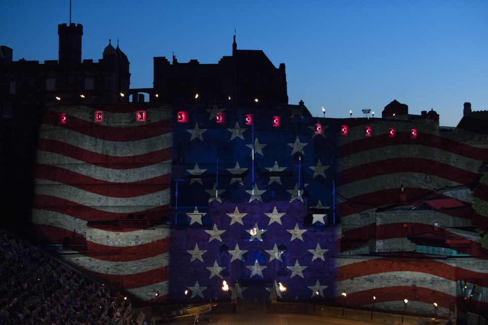 US Flag on Edinburgh Castle