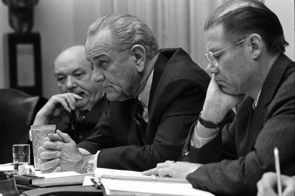 LBJ and Robert McNamara