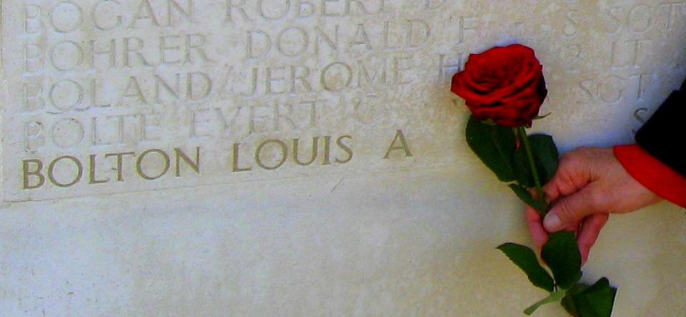 Louis A Bolton's Name Memorialized at Cambridge American Cemetery