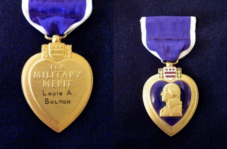 Louis A Bolton's Purple Heart Medal