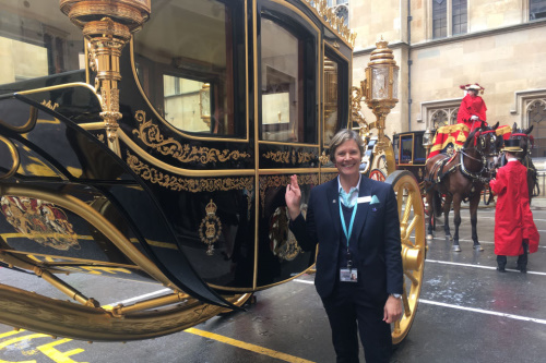 Melissa Wareham is one of your Virtual Tour Guides. Photo courtesy Houses of Parliament.