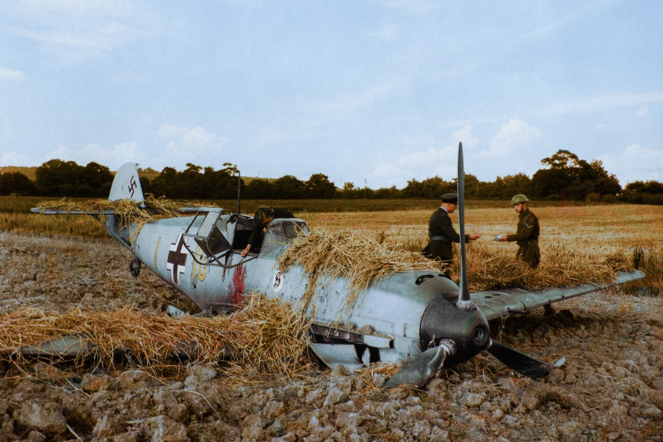 A Messerschmitt shot down