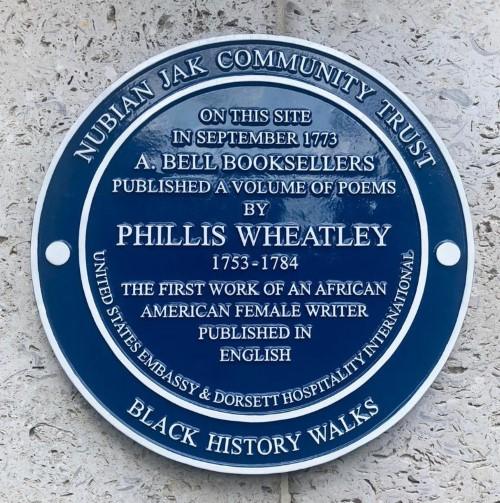Phillis Wheatley Blue Plaque