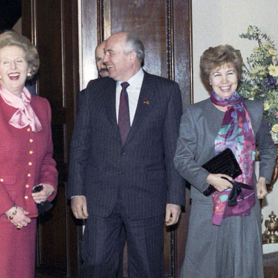 Thatcher meeting Gorbachev