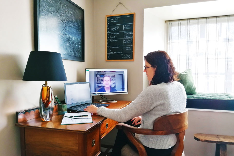 Beth Erskine Working From Home