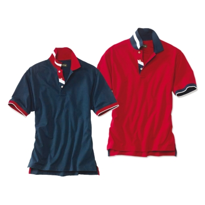 Blue and Red Shirts