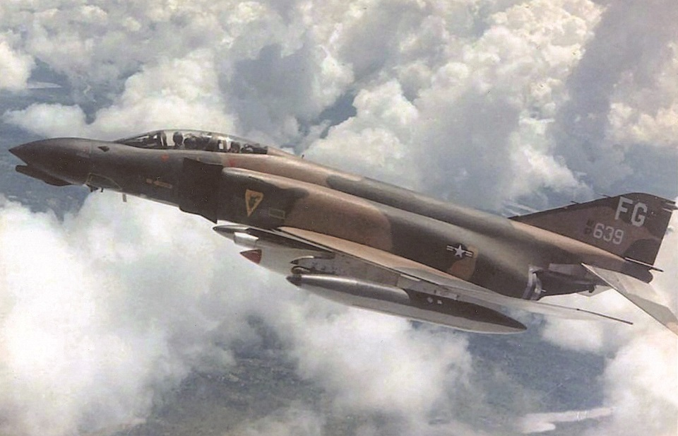 An F-4D in flight