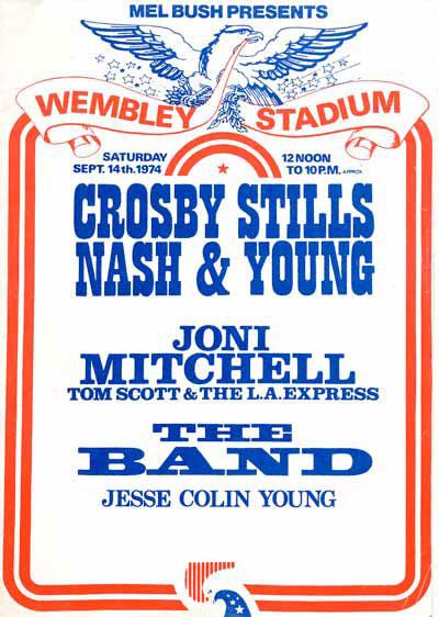 CSNY Wembley poster