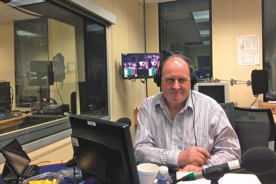 James Naughtie at the BBC's Washington Studio