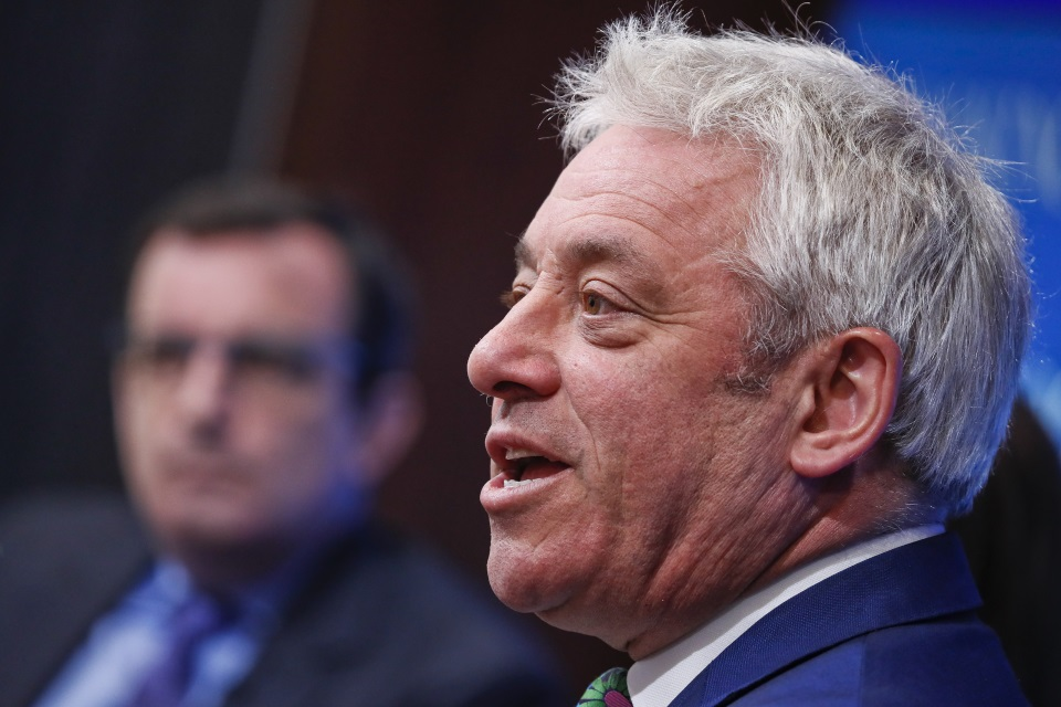 John Bercow, Speaker of the House of Commons, at the Brookings Institution in Washington