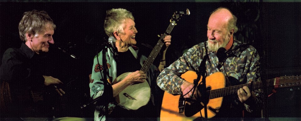 Mike, Peggy and Pete Seeger at the Folkstrong Society of Greater Washington in 2017