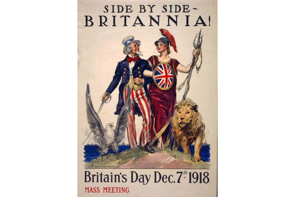 Uncle Sam Side by Side with Britannia