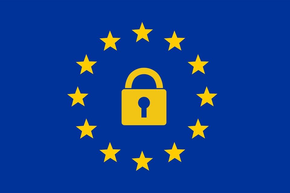EU Flag Padlock