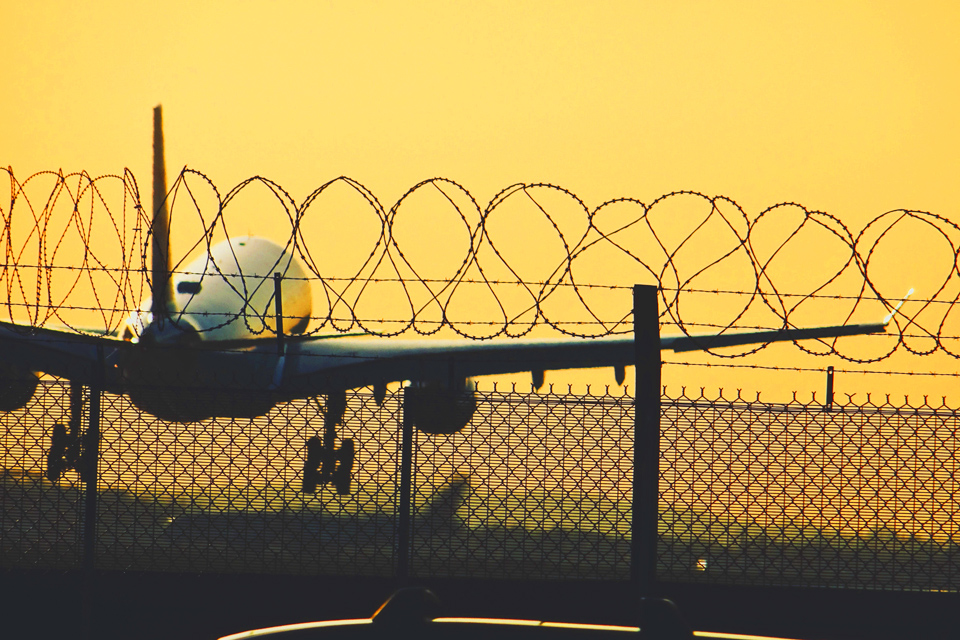 Heathrow barbed wire