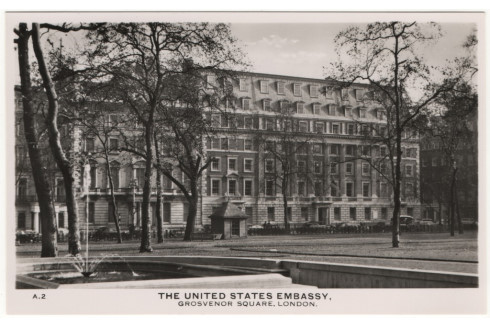 Historic Photo of the US Embassy at Grosvenor Square