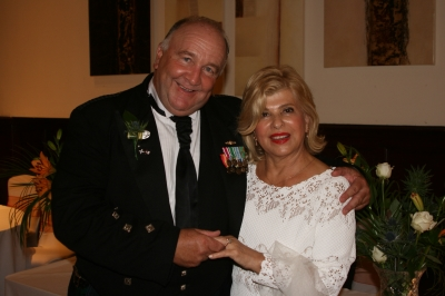 Jim Poole and his wife, Monique, getting married last year at the John Paul Jones Museum