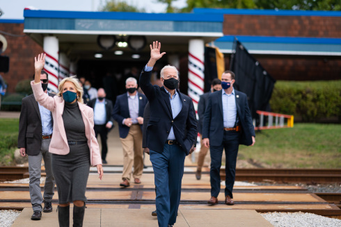 Joe Biden on the campaign track