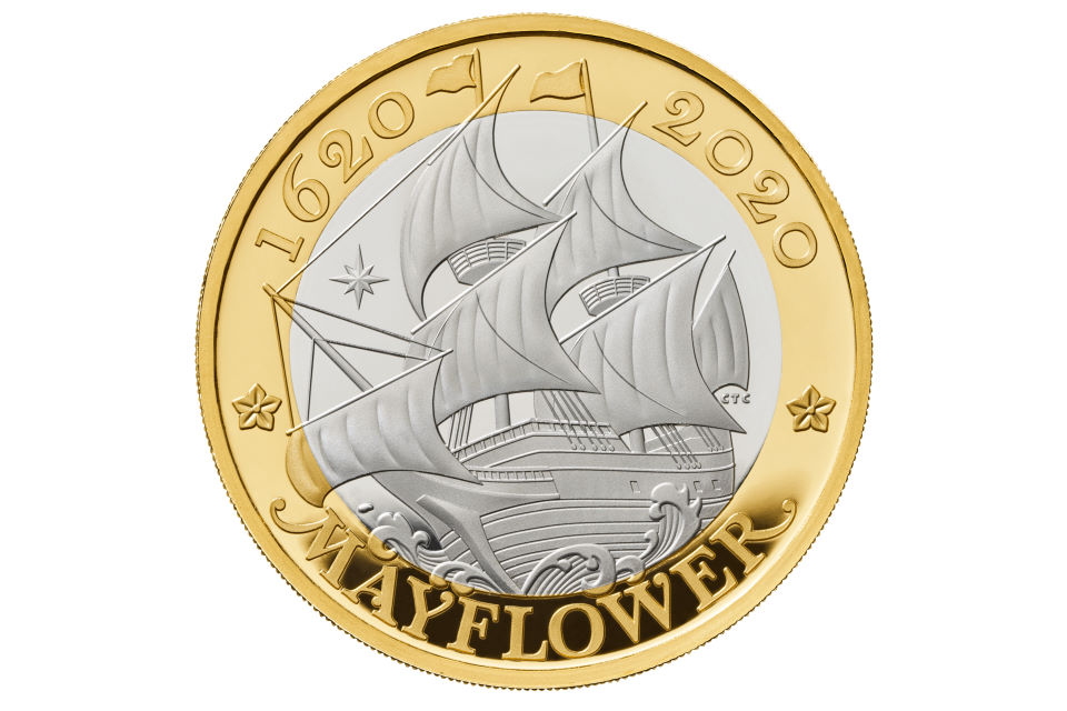 Mayflower 400 Coin Design