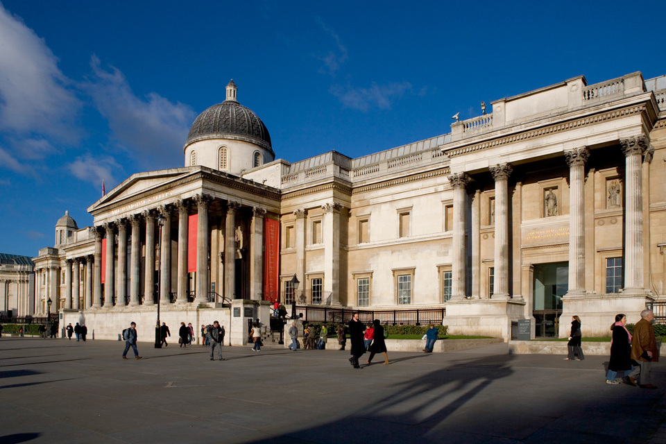 The National Gallery in Trafalgar Square. <small>© NATIONAL GALLERY, LONDON</small>