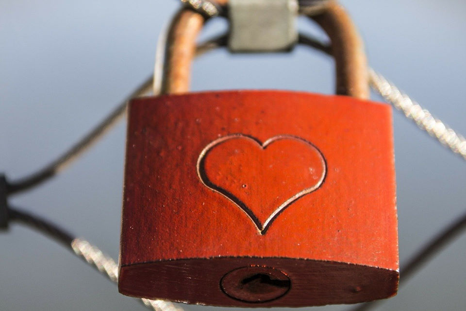 Padlock with Heart