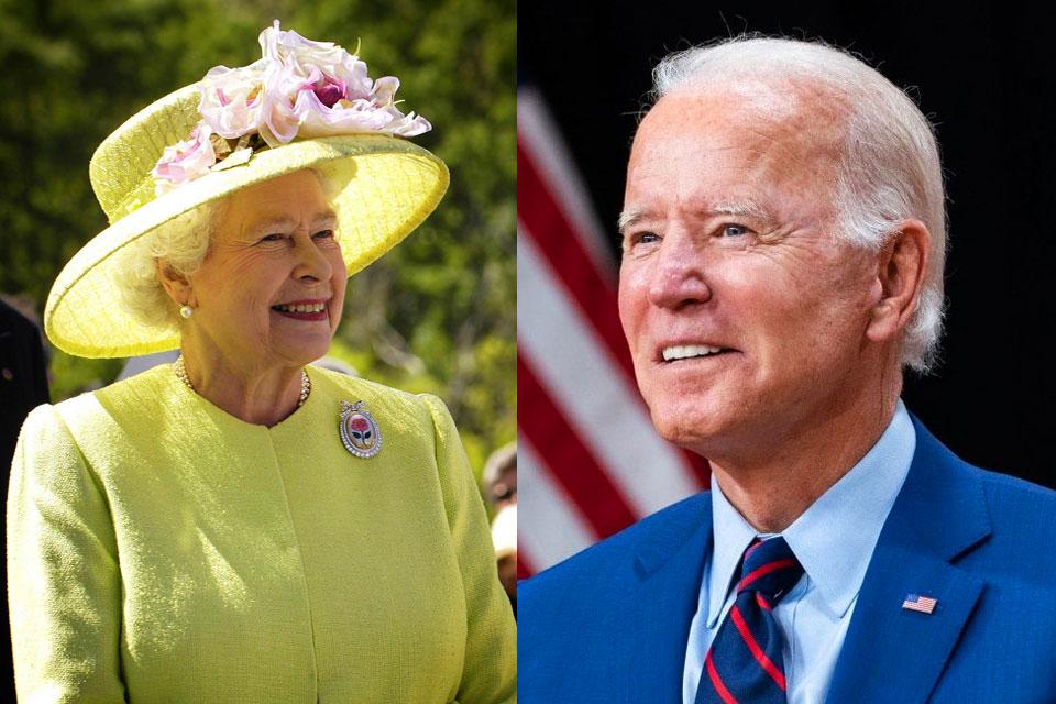 Queen Elizabeth Joe Biden