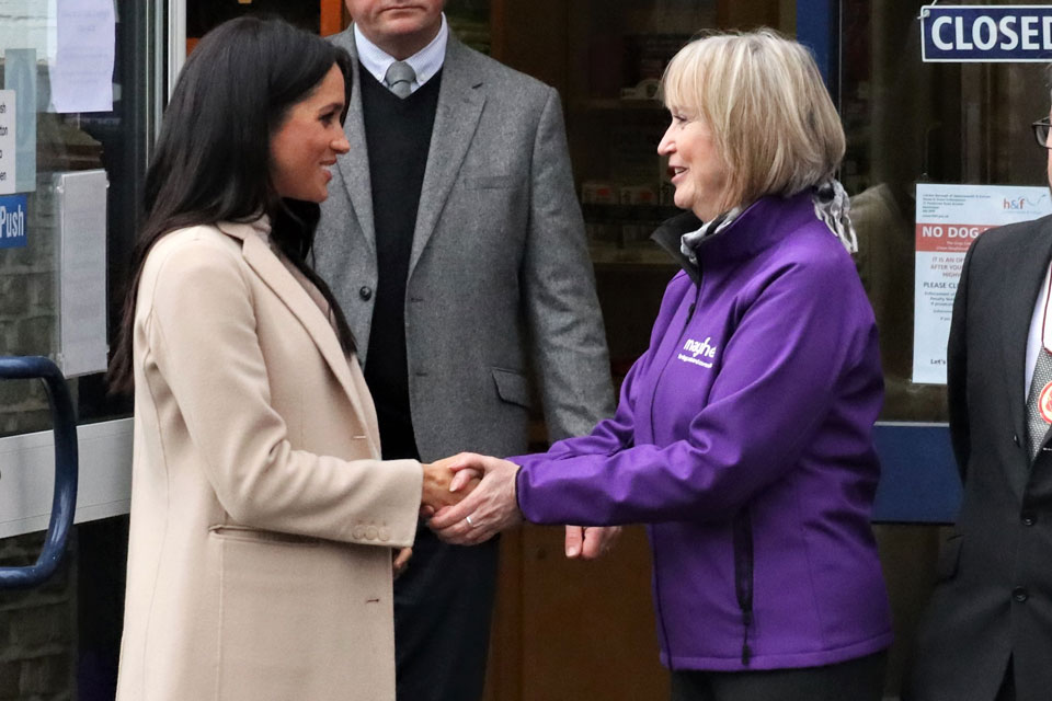 Duchess of Sussex visits Mayhew