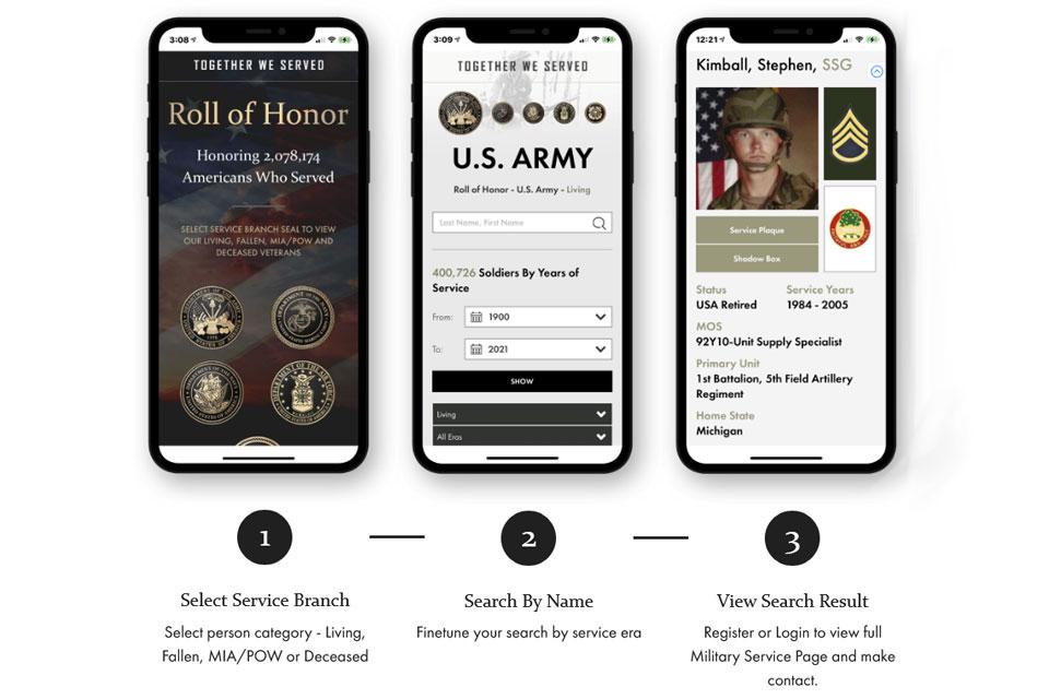 Veteran Finder and Memorial App