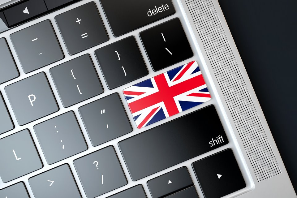 UK Flag Laptop
