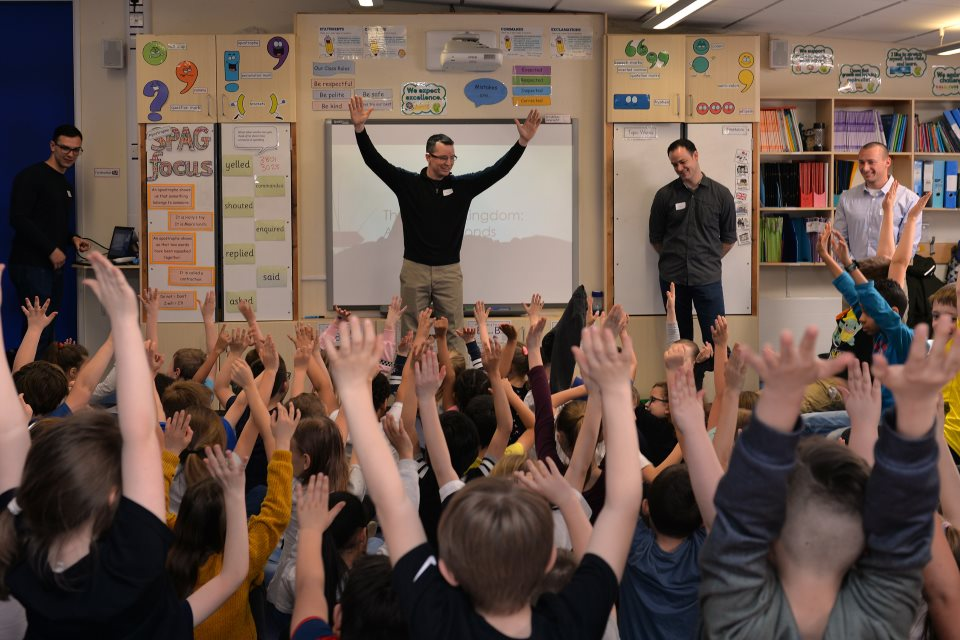 US Airmen visit local UK School