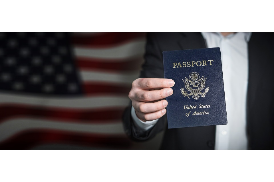 US Passport US Flag