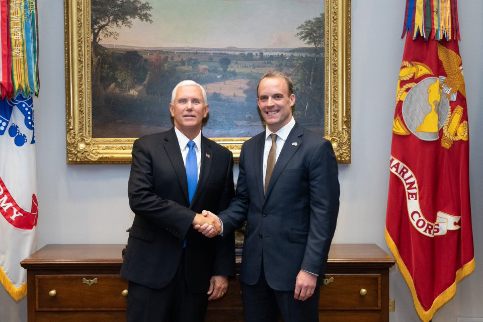 Vice President Pence and Foreign Secretary Raab