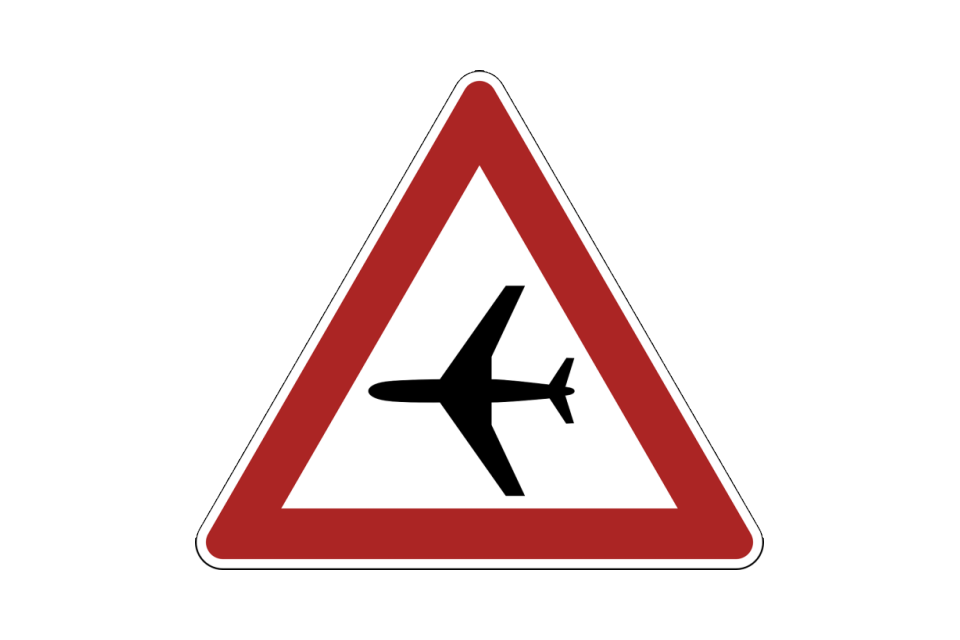 Warning Aircraft Sign