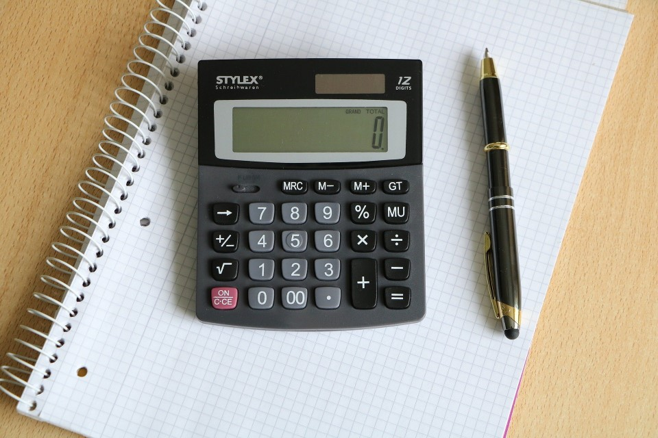 Calculator, Pad and Pen