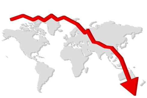Downward Arrow World Map