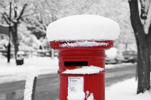 Post Box Snow